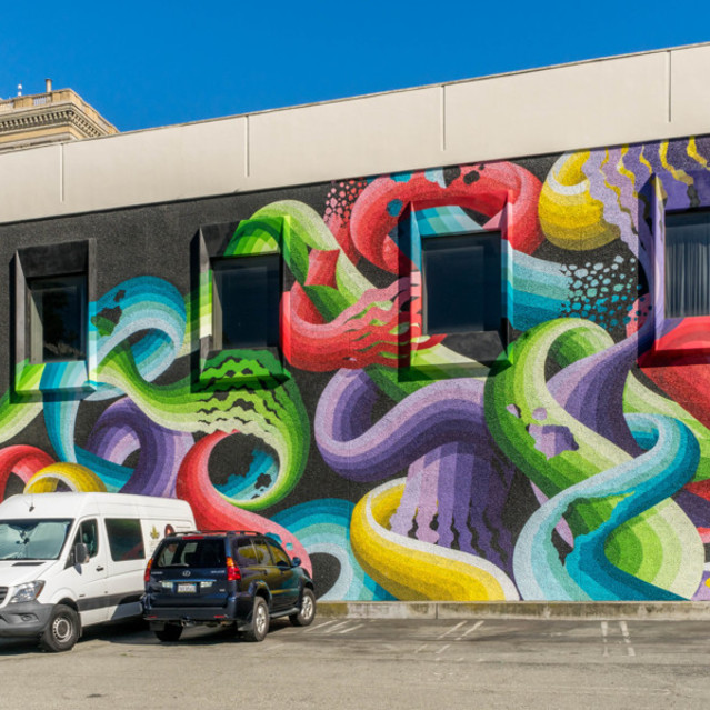 The James Apartments  -  Vibrant Mural